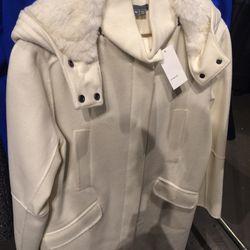 Rabbit fur parka, size XS, $179 (was $1,295)