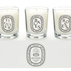 She'll find serenity at home with the <b>Diptyque Baies Figuier Roses Mini Candle Set</b> featuring three of the French brand's most loved scents. Diptyque's candles are handmade and designed to burn evenly up to 30 hours each. Available for $90 at <a hre