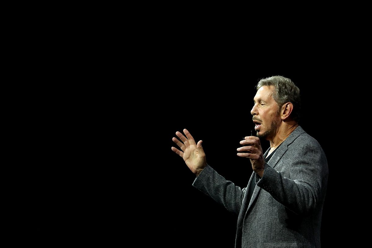 Larry Ellison Delivers Keynote At Annual Oracle OpenWorld Conference