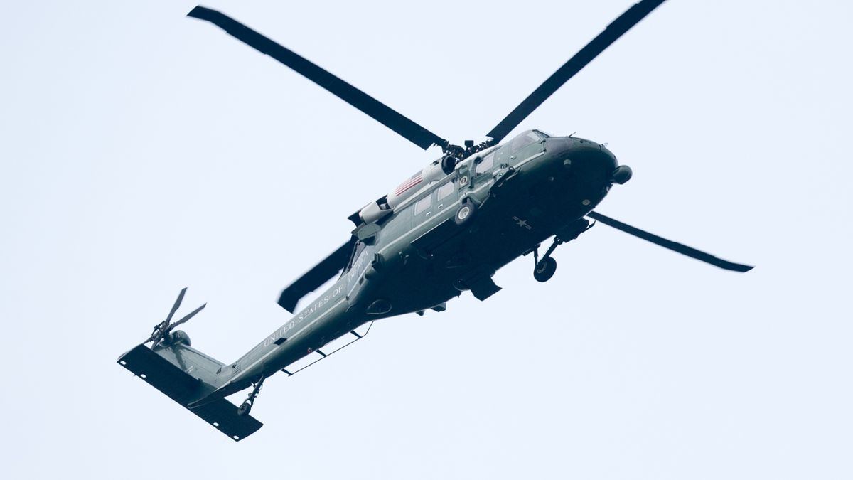 Marine One has not yet been used to drop money on unsuspecting Americans, but there's a first time for everything.