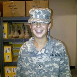 Taylor Bautista enlisted in the National Guard to help pay her college costs as she works to become a kindergarten teacher.