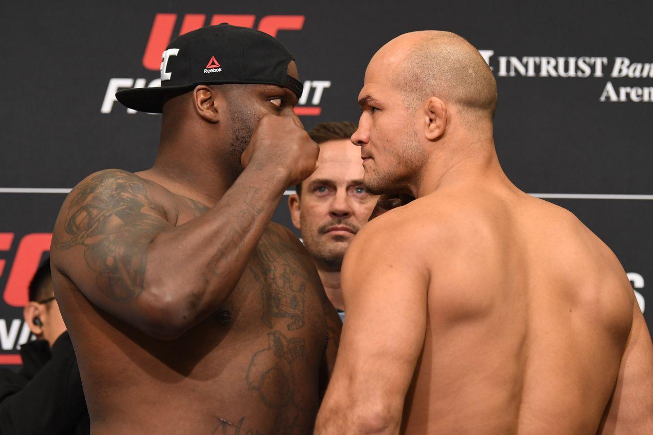 Derrick Lewis and Junior dos Santos will clash in the UFC Wichita main event.