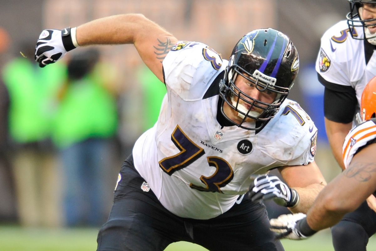 Marshal Yanda's the only one absolutely safe on the OL entering 2014.
