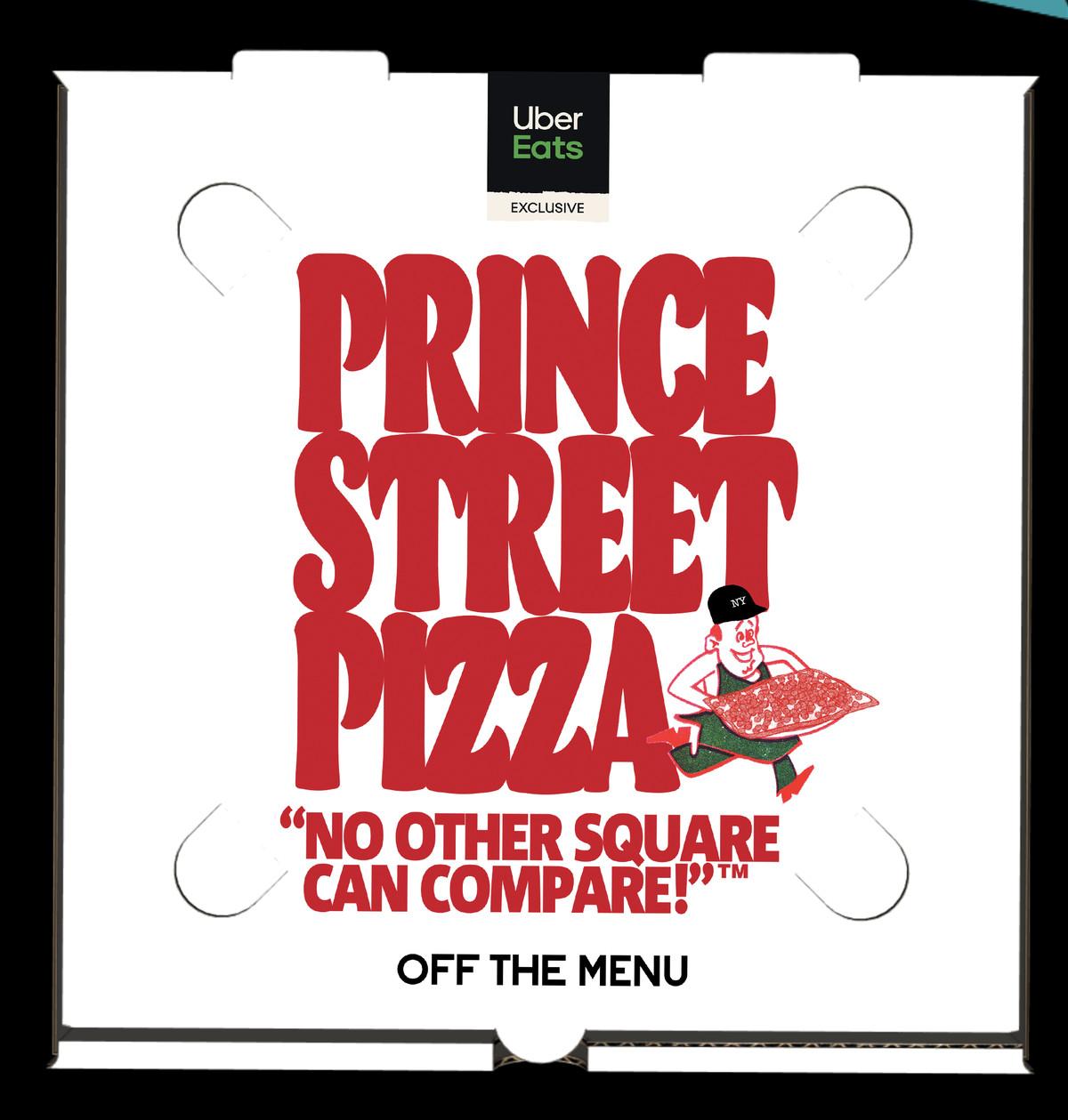 A collaboration pizza box.