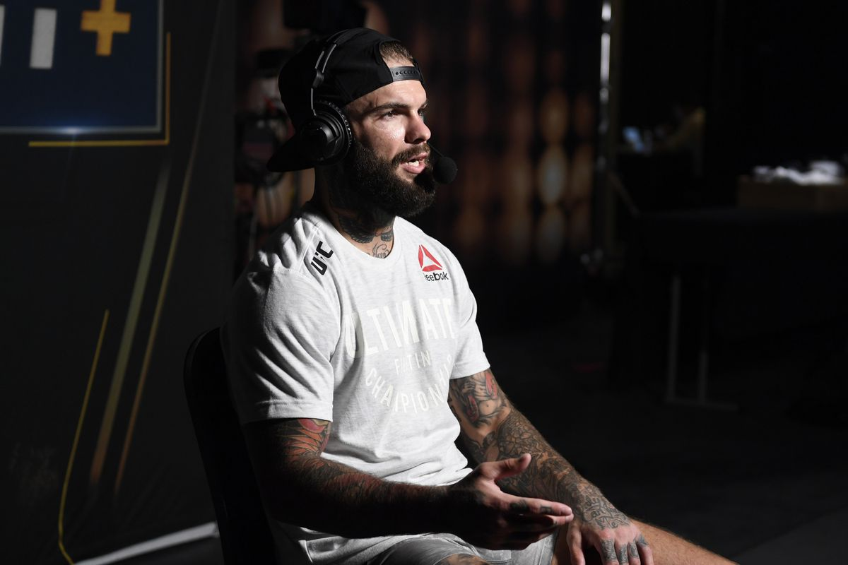 Cody Garbrandt is interviewed backstage during the UFC 250 event at UFC APEX on June 06, 2020 in Las Vegas, Nevada.