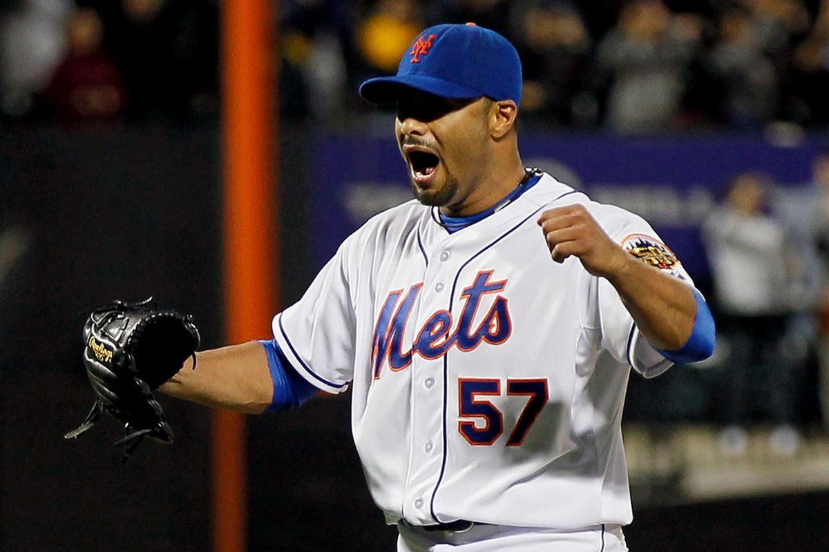 The only guy in the Mets organization that through a no-hitter last night. (Photo by Mike Stobe/Getty Images)