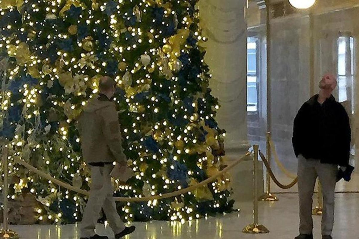 Members of the White House advance team, along with members from the Secret Service, survey the Capitol with state employees on Friday, Dec. 1, 2017, in anticipation of President Donald Trump's visit to Utah on Monday, Dec. 4.