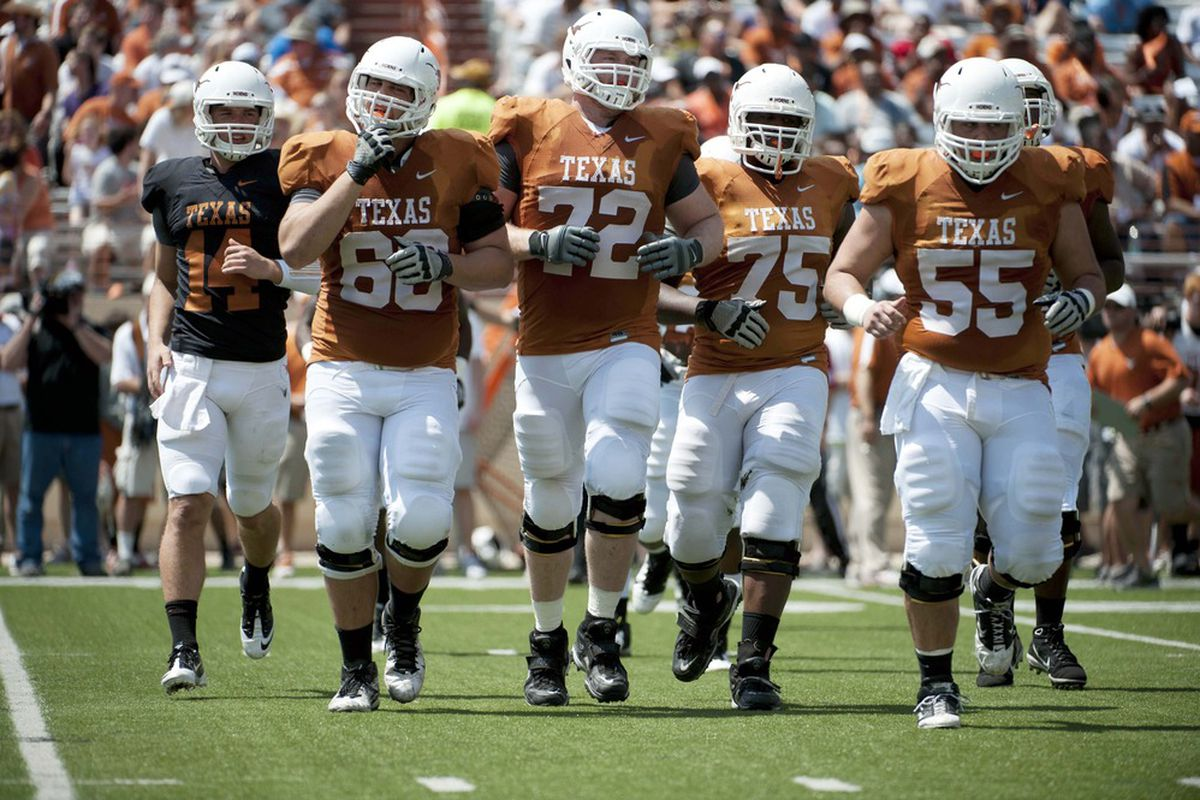 Texas football 2012 post spring offensive depth chart burnt