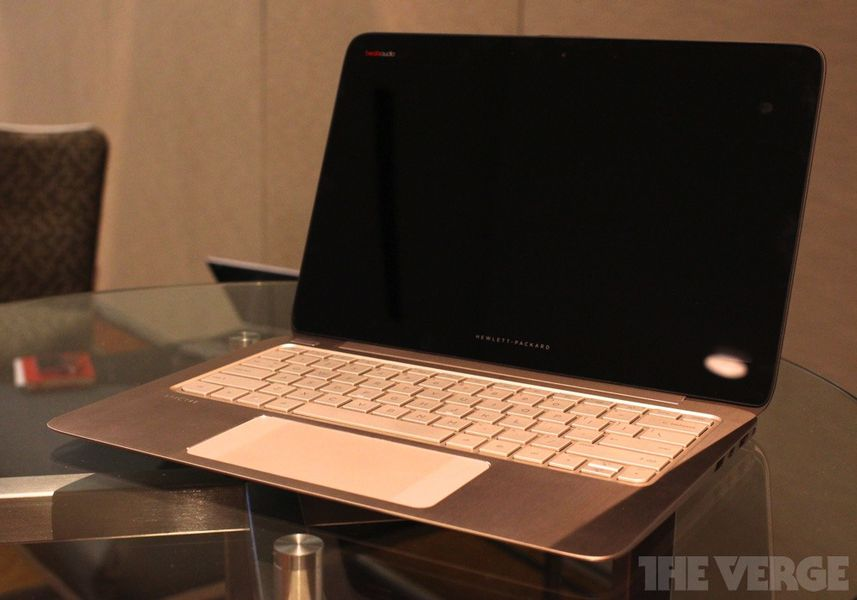 HP unveils new high-res laptop with crazy-wide touchpad ...