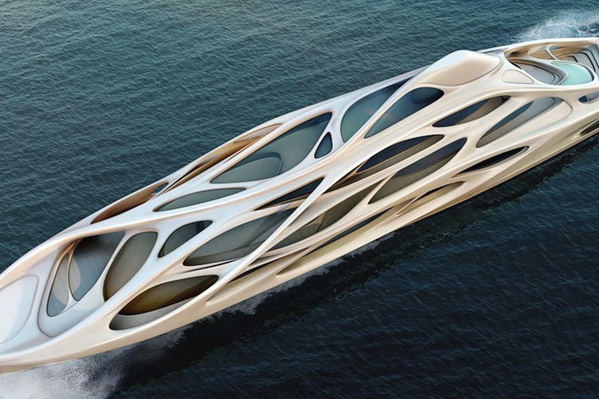 zaha hadid luxury yacht concept