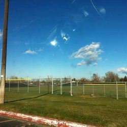 Strong winds caused damage to the baseball fence at Viewmont High School.