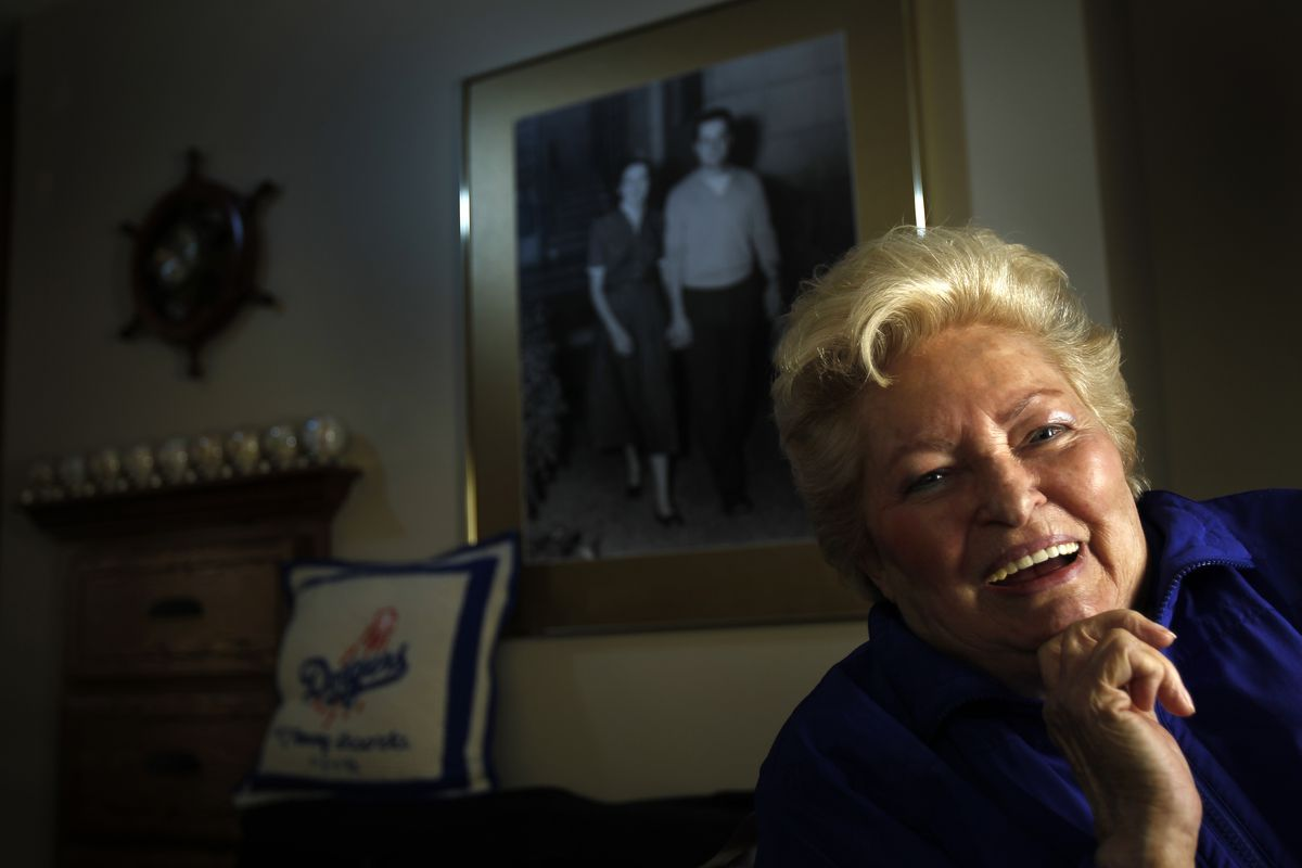 Jo Lasorda, former Dodgers manager Tommy Lasorda's wife, in their modest home in Fullerton where th
