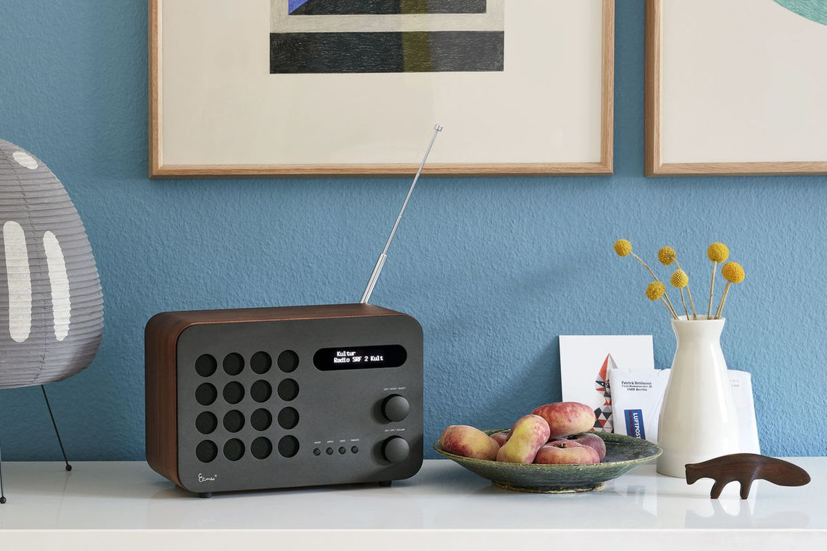 Radio on dresser