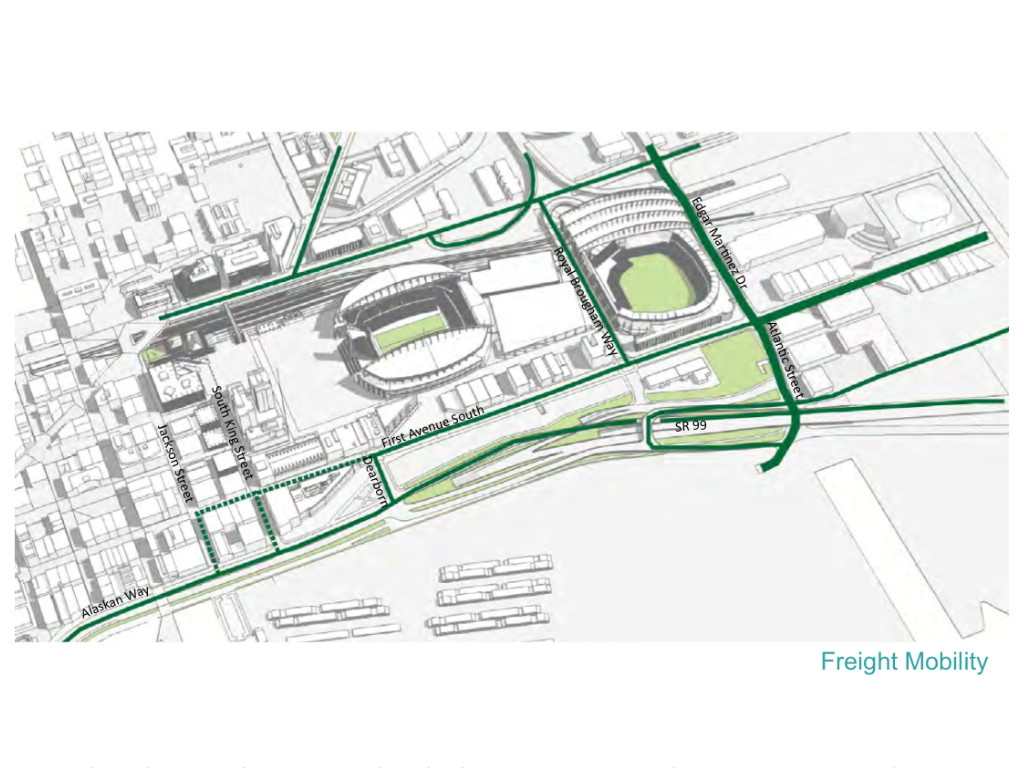 Proposed freight mobility through the Stadium District