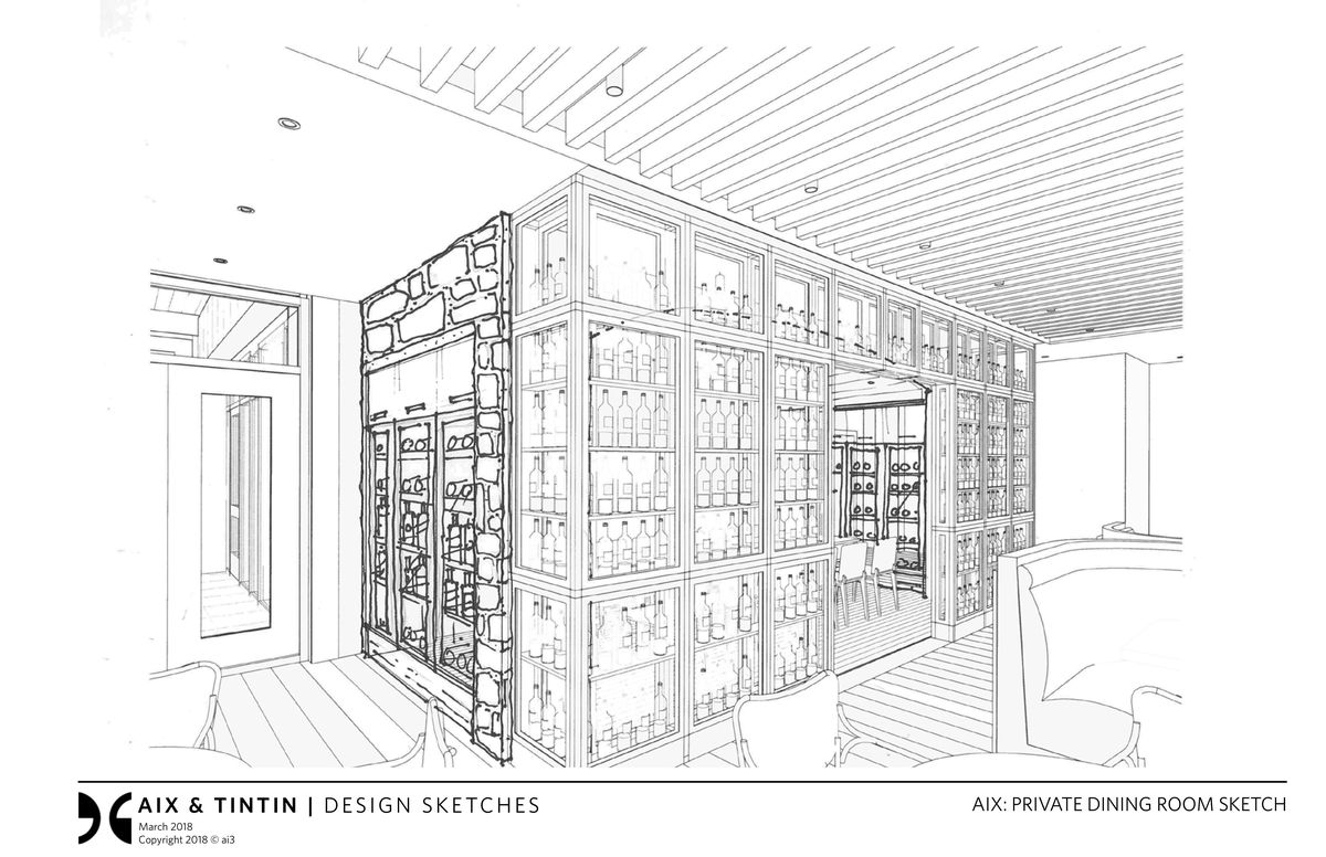 AIX– Private wine room for up to 10 guests