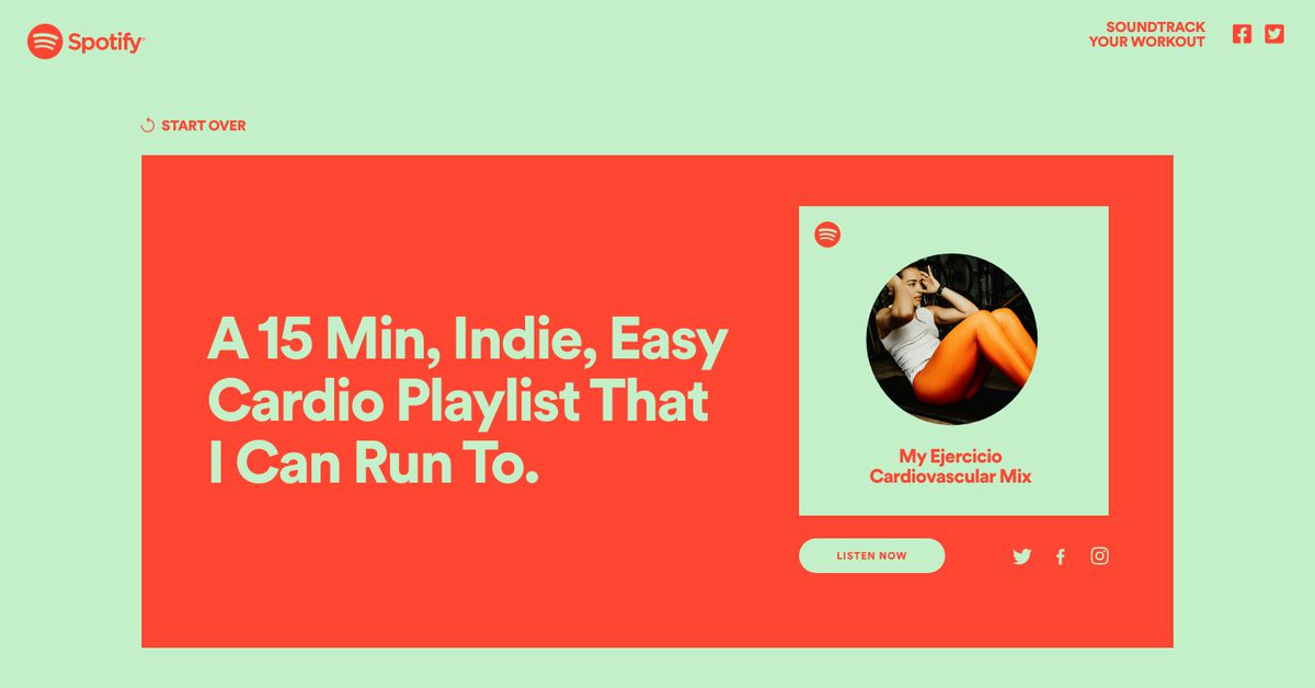 Spotify will now make you a custom workout playlist - The Verge