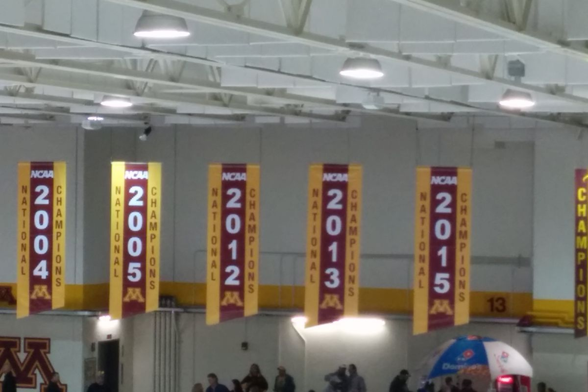 Minnesota unveiled its newest national championship banner Friday.