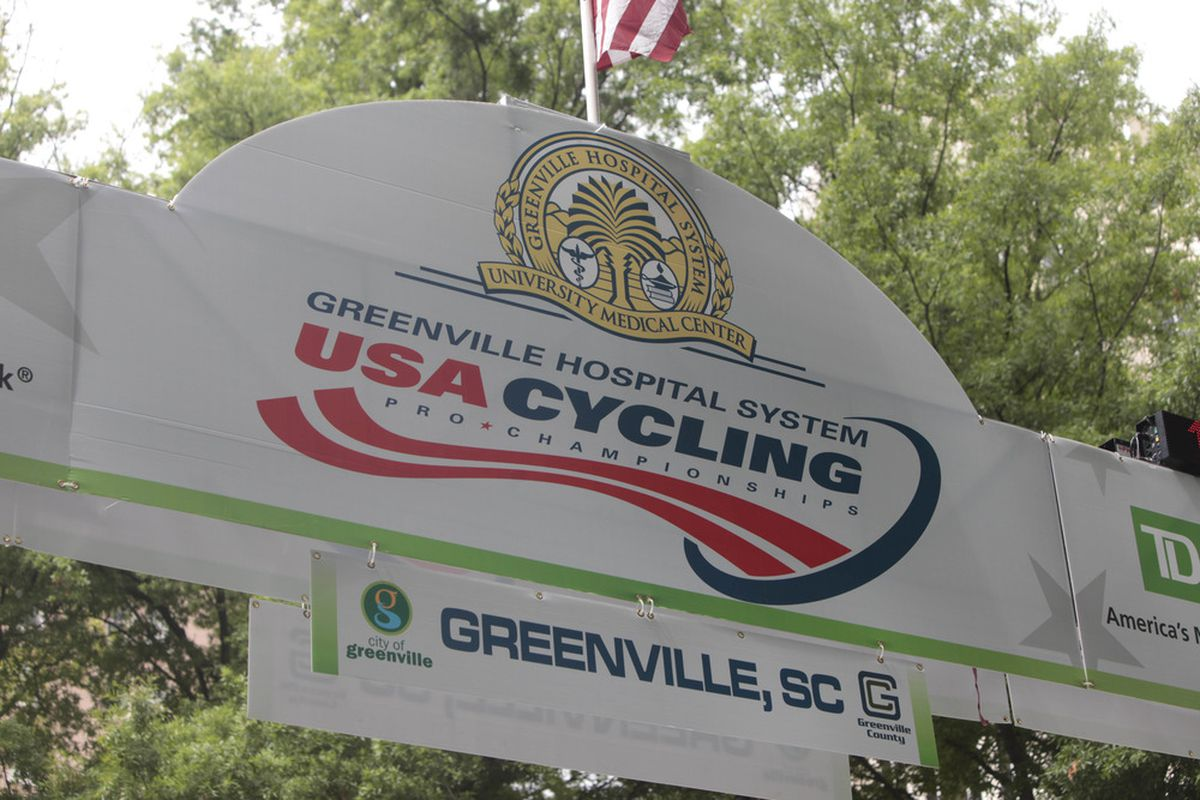 May 28, 2012; Greenville, SC, USA; A general view of the start finish line at the US Pro Road Race Championship. Mandatory Credit: Joshua S. Kelly-US PRESSWIRE