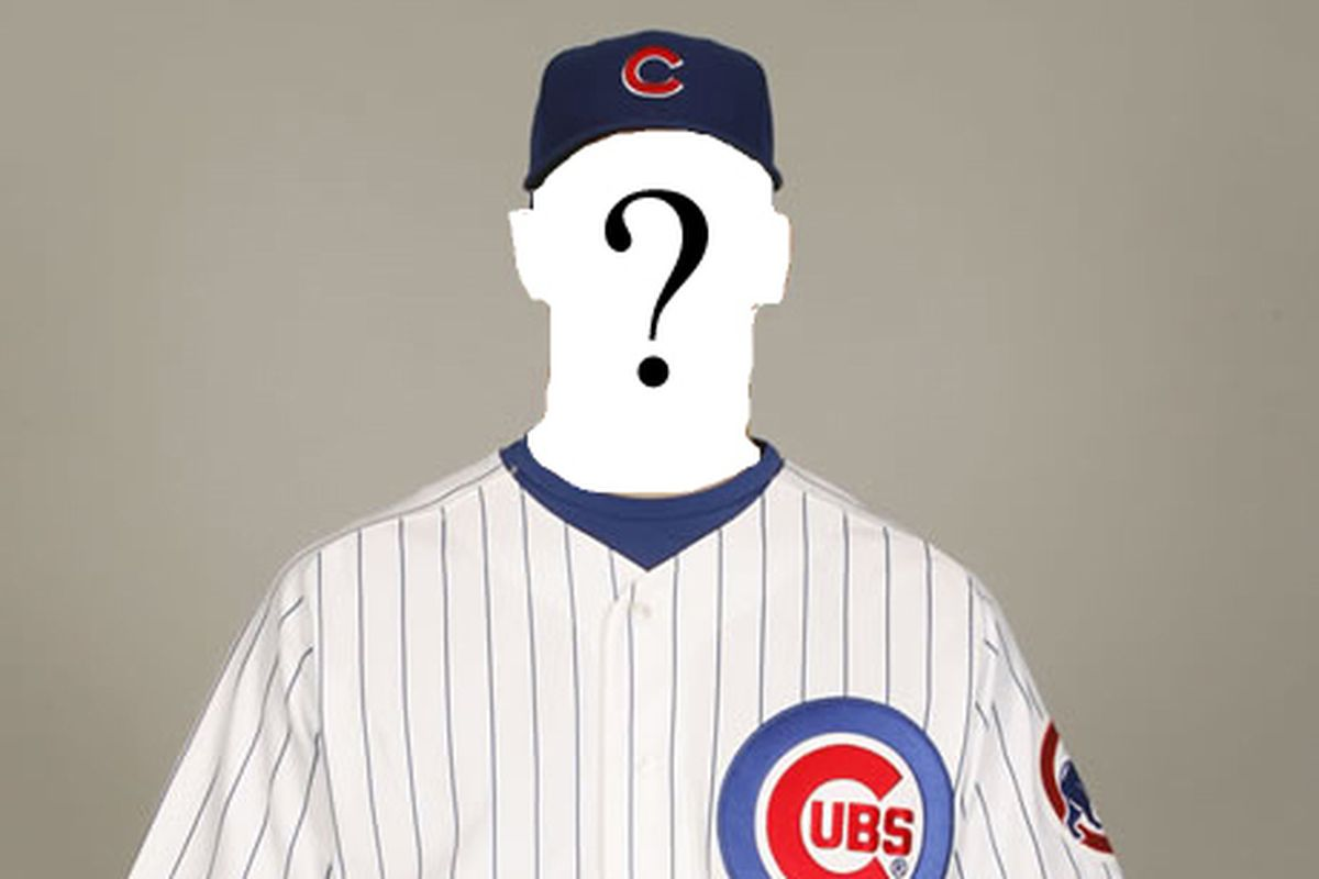 James Russell is scheduled to start Tuesday, but should the Cubs call up someone else instead? (Yes, I know he has Spock ears. Credit my poor Photoshop skills.<em> Photo illustration by Al Yellon</em>)