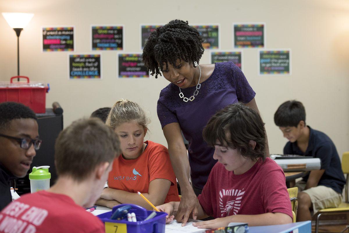 Nashville teacher Cicely Woodard was Tennessee's 2017-18 Teacher of the Year. She teaches eighth-grade math at West End Middle School, part of Metropolitan Nashville Public Schools.