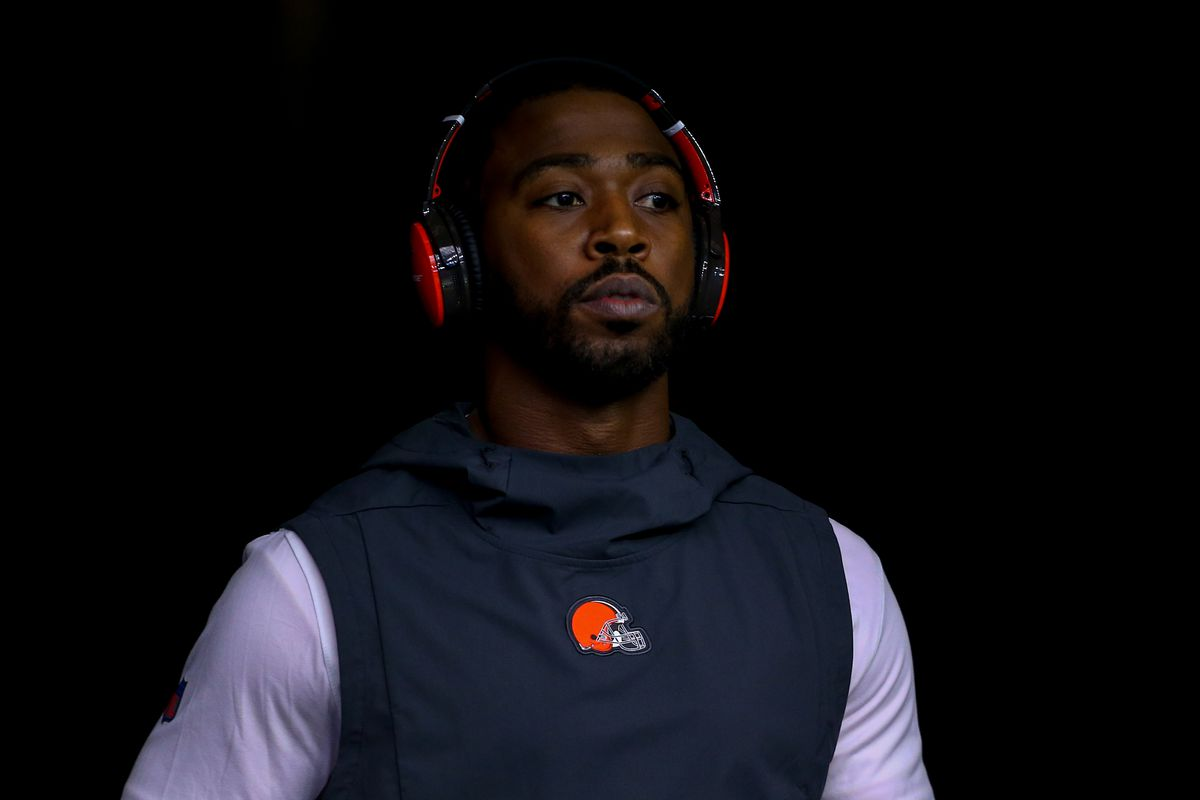 Cleveland Browns quarterback Tyrod Taylor (5) during the game against the Houston Texans at NRG Stadium.