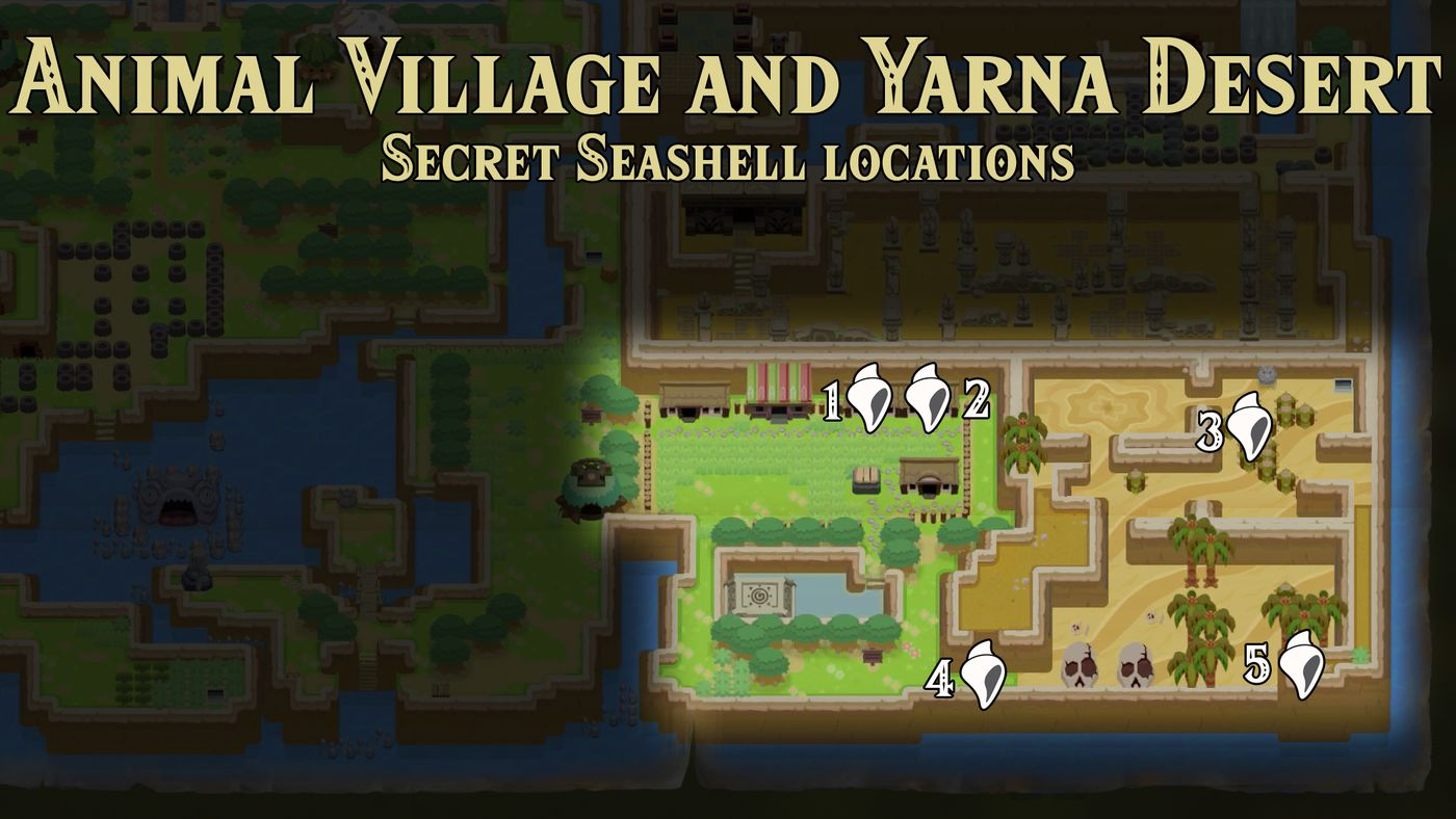 Every Secret Seashell Location In Link S Awakening Polygon