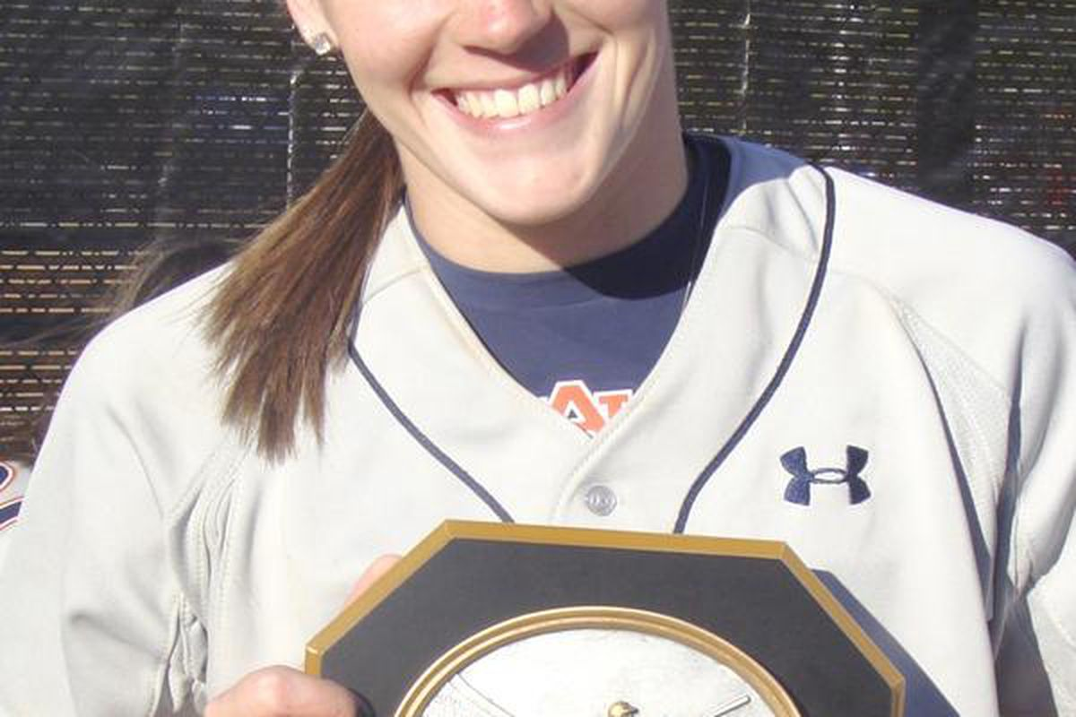 Auburn's Morgan Estelle was selected to the Freshman All- Southeastern Conference Softball Team.
