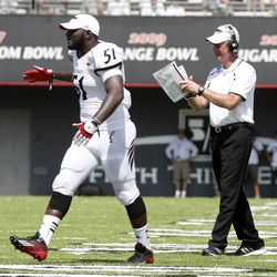 Greg Blair and Tommy Tuberville Celebrate
