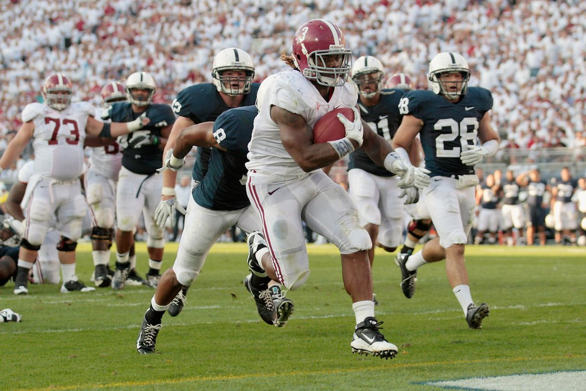 Alabama running back Trent Richardson powered the Crimson Tide to the top of the ballot this week, leading a smothering victory at Penn State- perhaps the highest quality win on any team's resume so far this season.