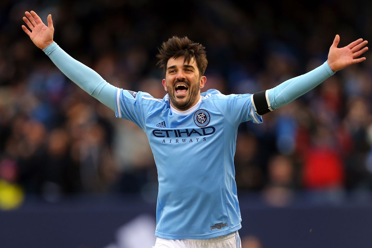 Classic stuff from David Villa in the NYCFC home opener last week!
