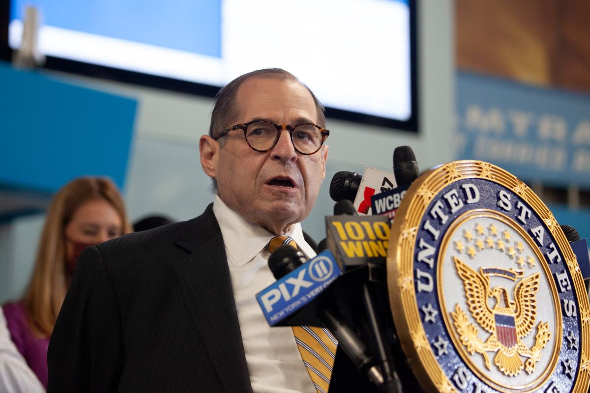Congressmember Jerry Nadler speaks at Penn Station about funding the Gateway Tunnel project, June 28, 2021.
