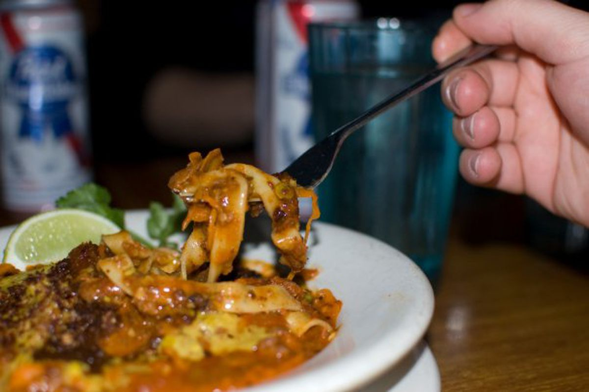 Pasta From Hell at East Coast Grill, circa 2010