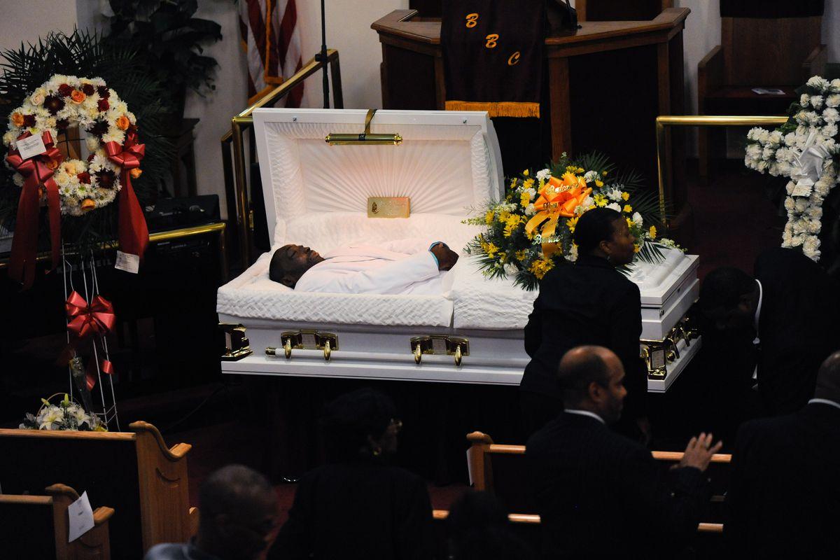 Eric Garner at his funeral.