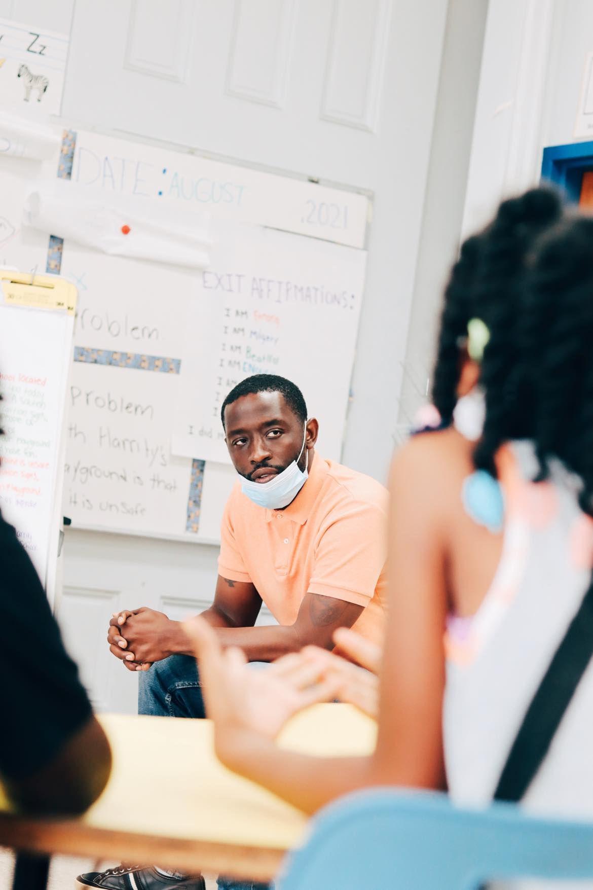 City Councilman Isaiah Thomas at Freedom Schools Literacy Academy.