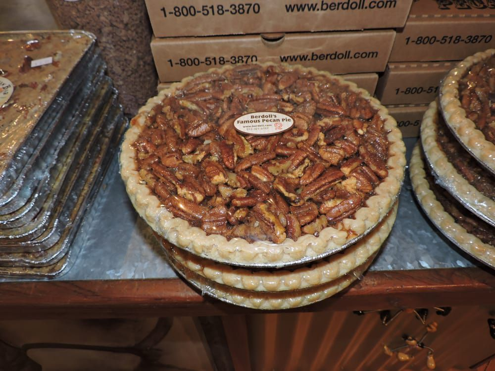 Pecan pies from Berdoll Pecan Farm