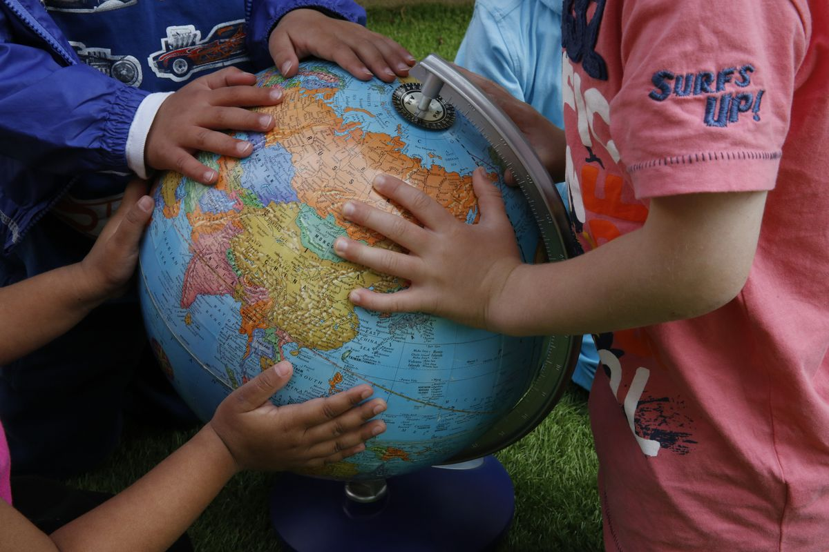 Finding countries on a globe in class is one thing. Learning from their classrooms is more difficult.