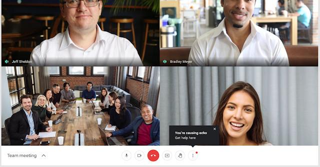 Google Meet now warns you when you're causing an echo