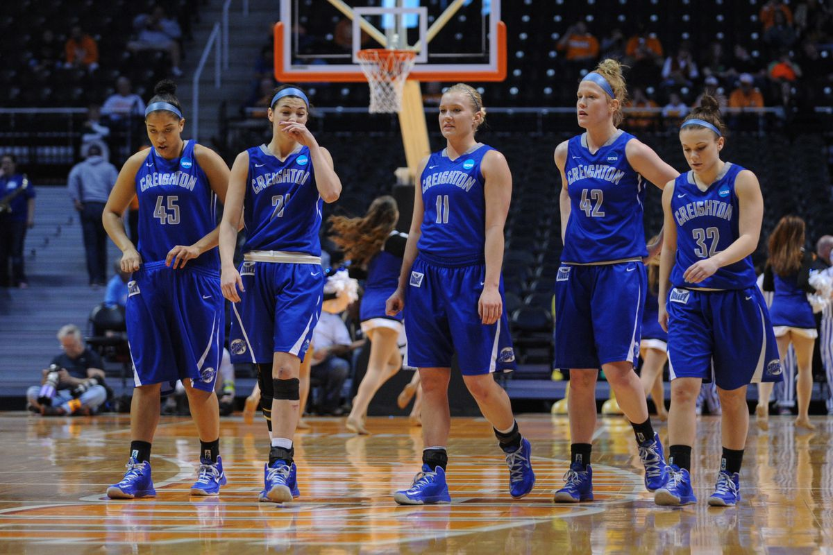 Creighton Bluejays guard McKenzie Fujan (center) came up big in an upset win over the Syracuse Orange.