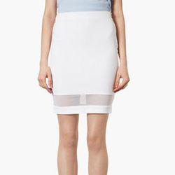 "<strong>Topshop</strong> Mesh Panel Pencil Skirt, <a href=""http://shop.nordstrom.com/S/topshop-mesh-panel-pencil-skirt/3517508?origin=category&BaseUrl=All+Topshop"">$50</a> at Nordstrom"
