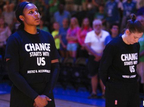 Lynx forward Maya Moore (left) and guard Lindsay Whalen