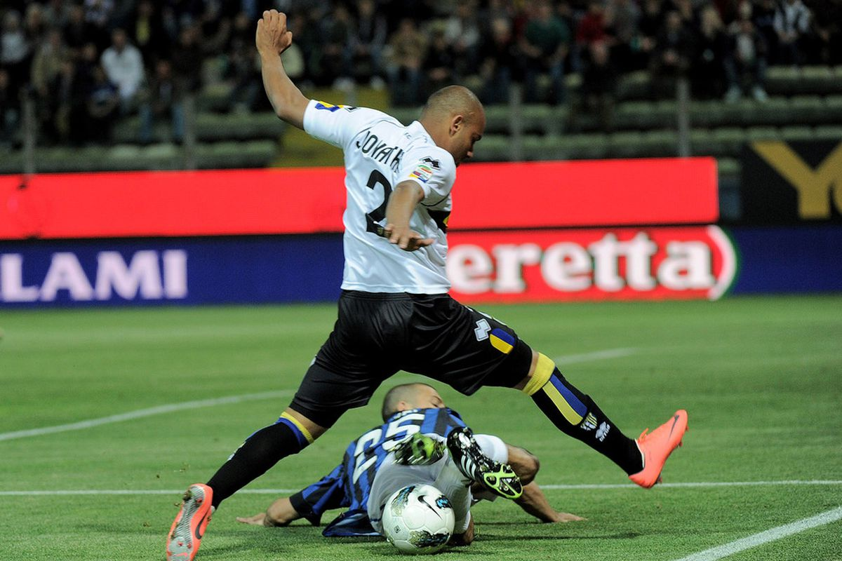 Jonathan played for Parma last season. This year he is with Inter. Not sure we came out ahead, there.