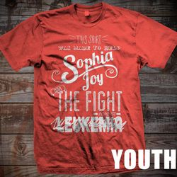 Family and friends of 2-year-old Sophia Simonsen created these shirts to support her battle with leukemia.