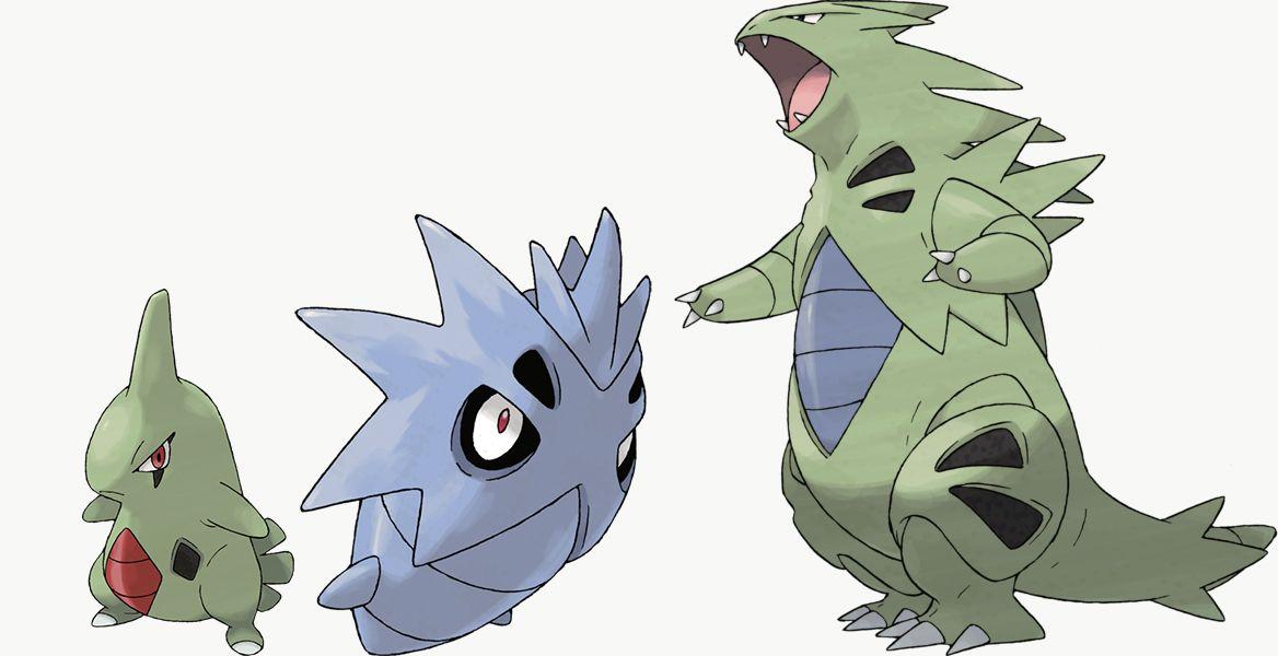 Larvitar, Pupitar, and Tyranitar are exclusive to Pokémon Shield