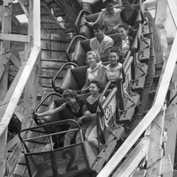 The Bobs ride at Riverview Park in 1955.  Sun-Times Archives.