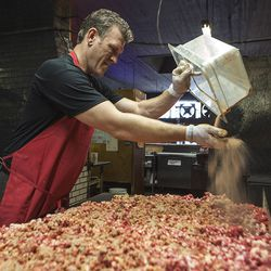 Wayne Mueller carries on the family barbecue tradition at Louie Mueller Barbecue in Taylor, TX.