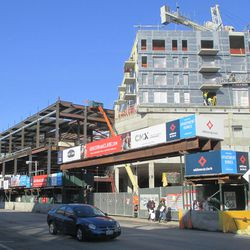 The Addison Park project, looking north from Clark Street