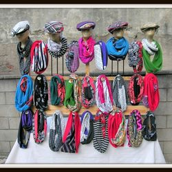 """Infinity scarves, apparel, handbags, and more made with upcycled and vintage fabrics from <a href=""""http://www.pheajean.com/"""">Phea Jean</a>."""