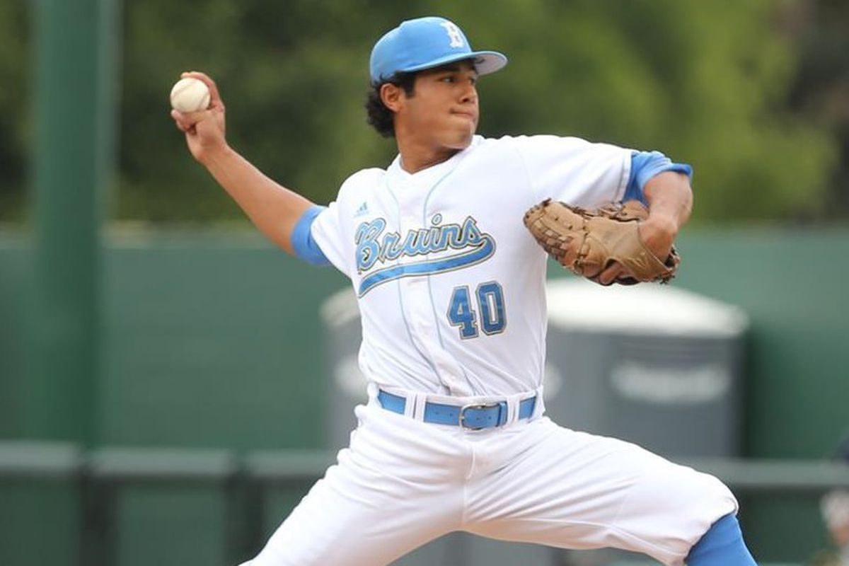 Senior righty, Moises Ceja, will start for UCLA this afternoon.