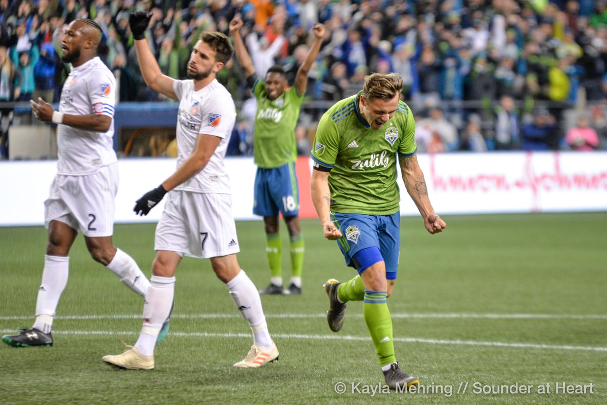 How might Sounders line up if their top two forward choices are missing?