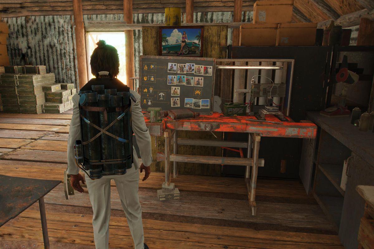 A Resolver workbench in Far Cry 6